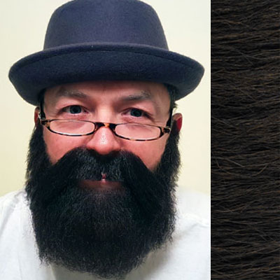 Beard & Moustache Combination MB4 Colour 4 - Brown - Human Hair - BME