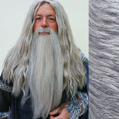 Gandalf Wig, Beard & Moustache Set Colour 56 Grey - Synthetic Hair - BMV
